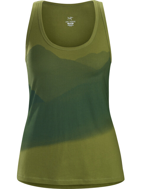 Arc'teryx Valleys Koszulka bez rękawów Kobiety zielony/oliwkowy